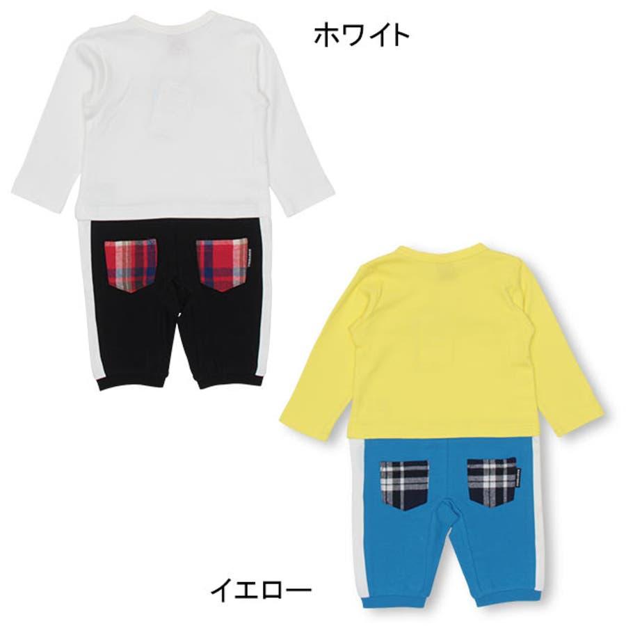 チェック ポケット ロンパース 4455B ベビードール BABYDOLL 子供服 ベビー 男の子 女の子 4