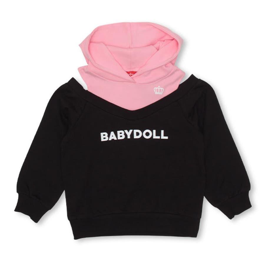 レイヤード パーカー 4473K ベビードール BABYDOLL 子供服 ベビー キッズ 男の子 女の子 108