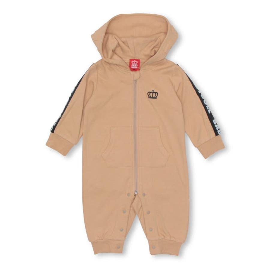 ロゴテープロンパース4474B ベビードール BABYDOLL 子供服 ベビー 男の子 女の子 108