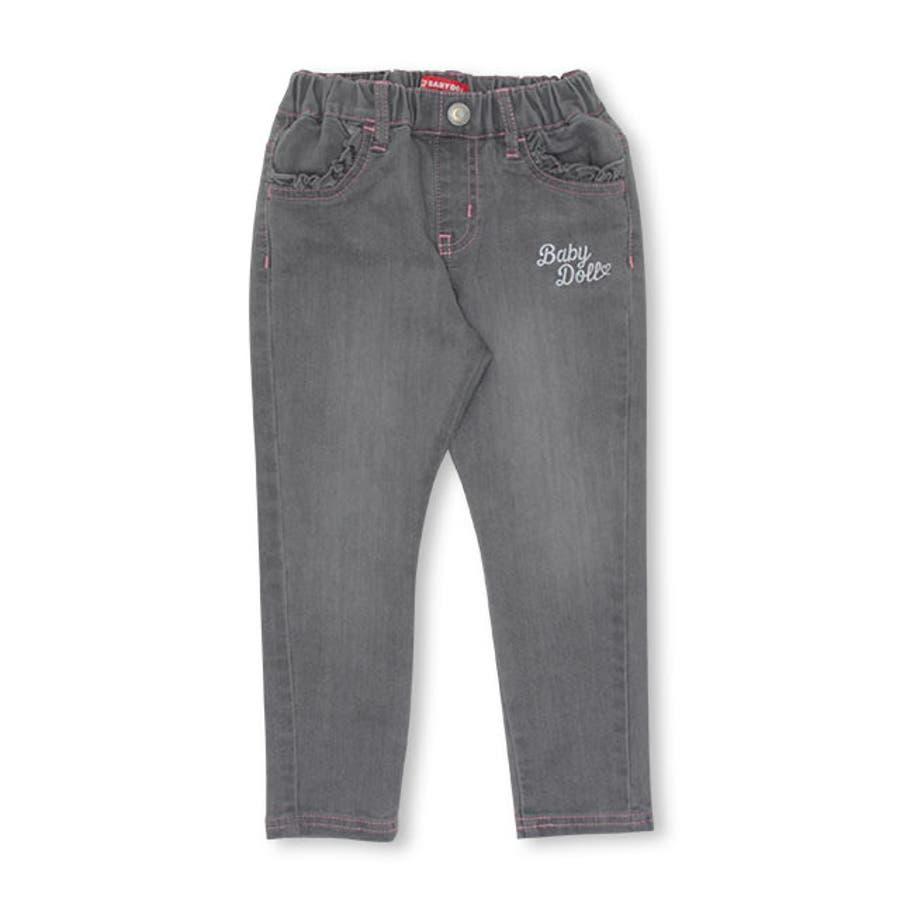 リボン ポケット デニム ロングパンツ 4529K ベビードール BABYDOLL 子供服 ベビー キッズ 男の子 女の子 108