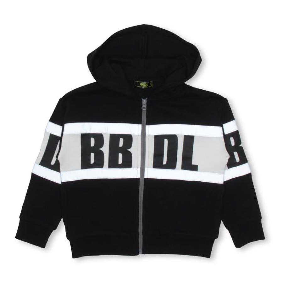 BBDL(ビー・ビー・ディー・エル) BIGロゴ ジップパーカー 4544K ベビードール BABYDOLL 子供服 ベビー キッズ男の子 女の子 8