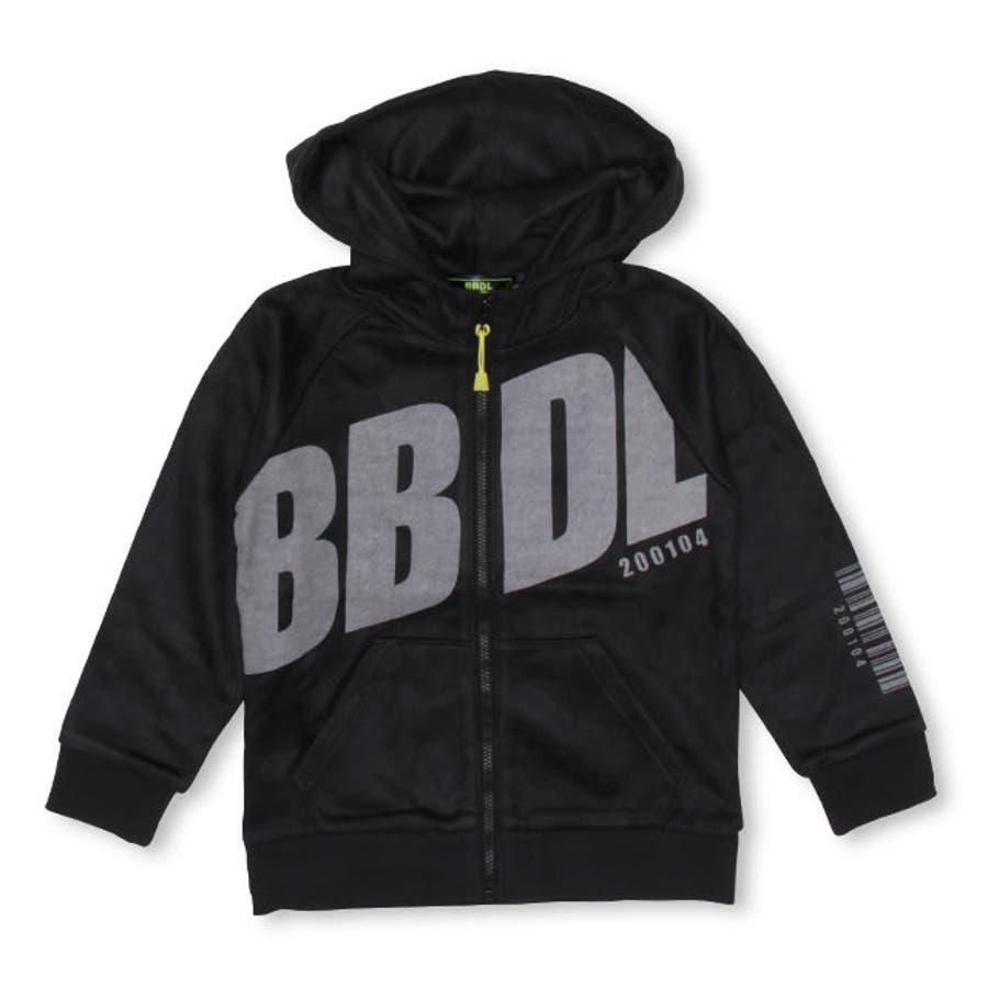 BBDL(ビー・ビー・ディー・エル) BIGロゴ ジップパーカー4274K (ボトム別売) ベビードール BABYDOLL 子供服キッズ 男の子 女の子 108