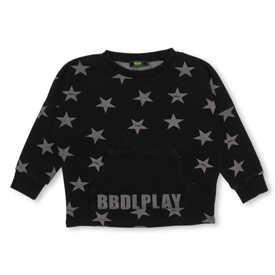 BBDL(ビー・ビー・ディー・エル) 星柄 トレーナー 4398K (ボトム別売) ベビードール BABYDOLL 子供服 キッズ男の子 女の子 108