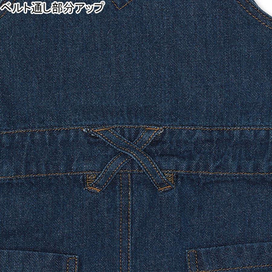 ロゴステッチ デニム ジャンパースカート 6