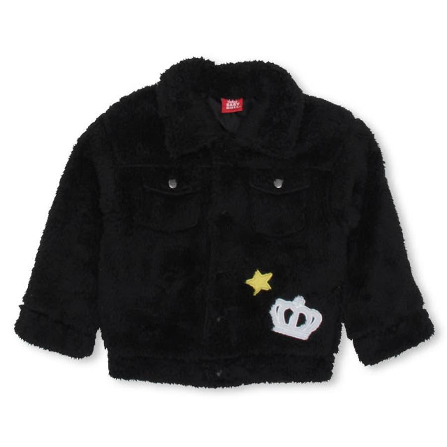 ワッペンシャツ アウター 4542K ベビードール BABYDOLL 子供服ベビー キッズ 女の子 108