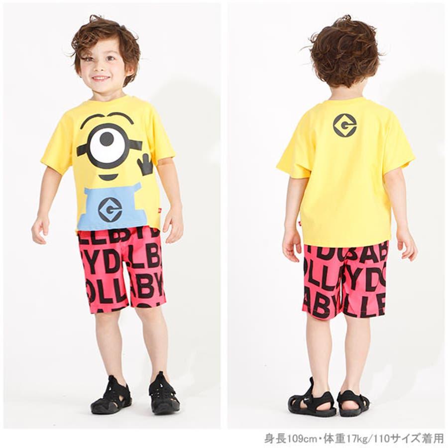 親子お揃い ミニオン BIGキャラクタードルマン Tシャツ 4168K ベビードール BABYDOLL 子供服 ベビー キッズ 男の子女の子 2