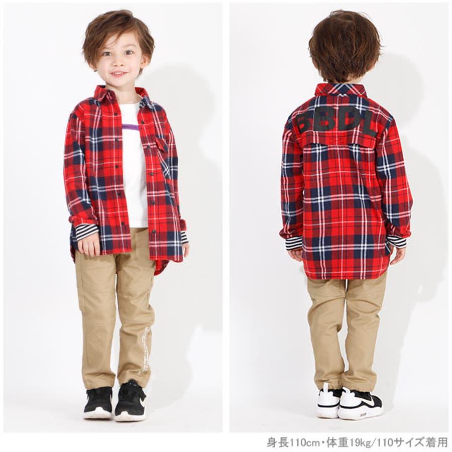 BBDL(ビー・ビー・ディー・エル) バックロゴチェック シャツ 4254K ベビードール BABYDOLL 子供服 ベビー キッズ男の子 女の子 2