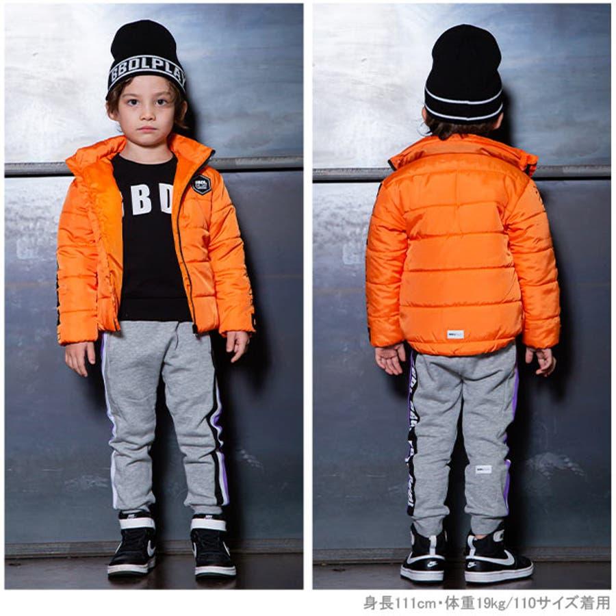 BBDL(ビー・ビー・ディー・エル) ラインロゴ 中綿アウター 4279K ベビードール BABYDOLL 子供服ベビー キッズ男の子 女の子 2