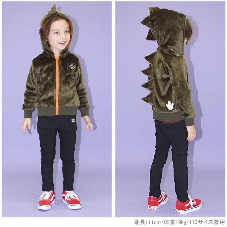 恐竜 ジップパーカー 4565K ベビードール BABYDOLL 子供服ベビー キッズ 男の子 女の子 2