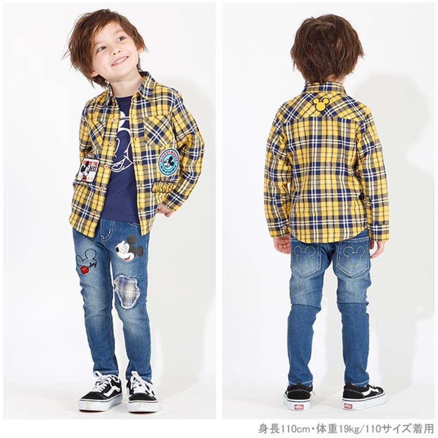 ディズニー ワッペン チェックシャツ 4585K ベビードール BABYDOLL 子供服 ベビー キッズ 男の子 女の子DISNEY★Collection 2