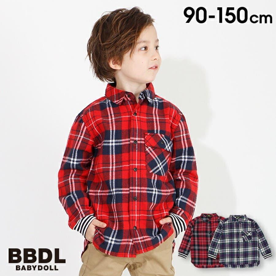 BBDL(ビー・ビー・ディー・エル) バックロゴチェック シャツ 4254K ベビードール BABYDOLL 子供服 ベビー キッズ男の子 女の子 1