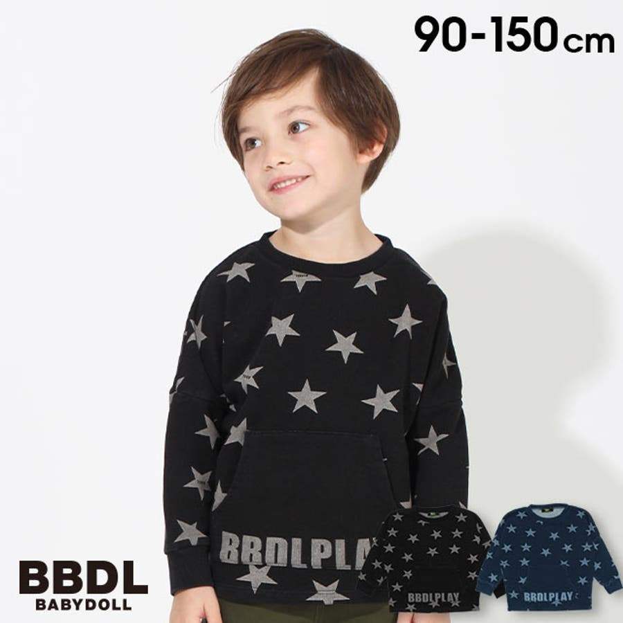 BBDL(ビー・ビー・ディー・エル) 星柄 トレーナー 4398K (ボトム別売) ベビードール BABYDOLL 子供服 キッズ男の子 女の子 1