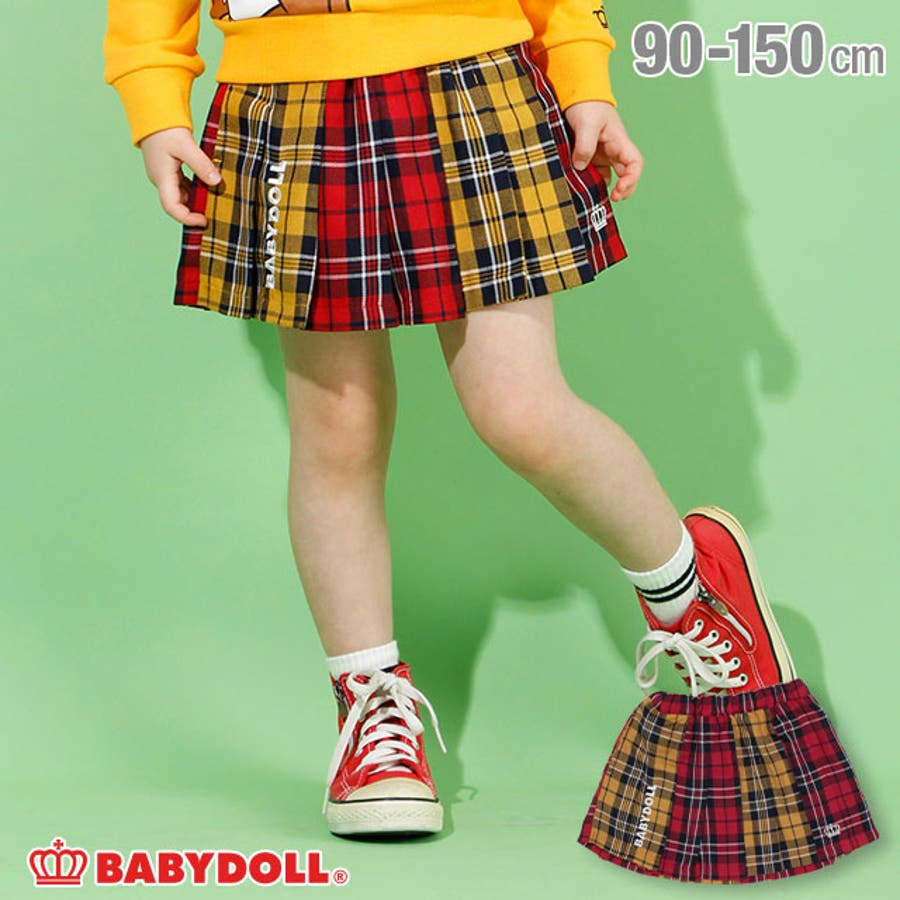 チェック スカート 4453K (トップス別売) ベビードール BABYDOLL 子供服 ベビー キッズ 女の子 1