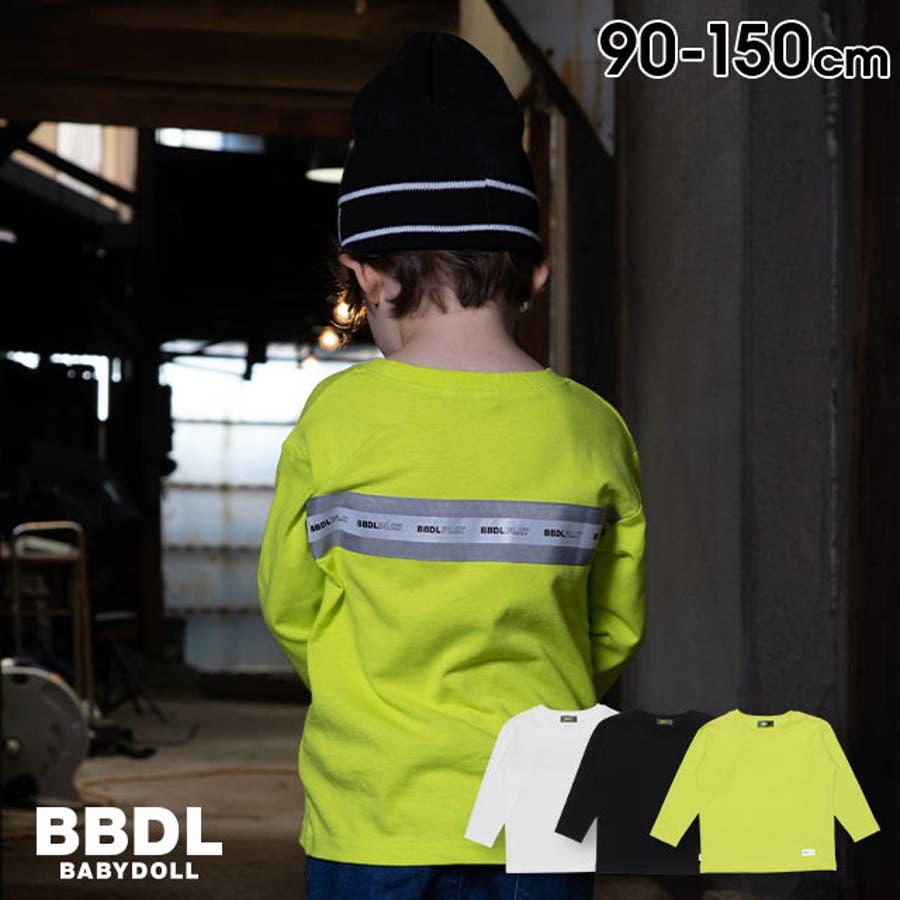BBDL(ビー・ビー・ディー・エル) ロゴリフレクター ロンT 4551K ベビードール BABYDOLL 子供服 ベビー キッズ男の子 女の子 1