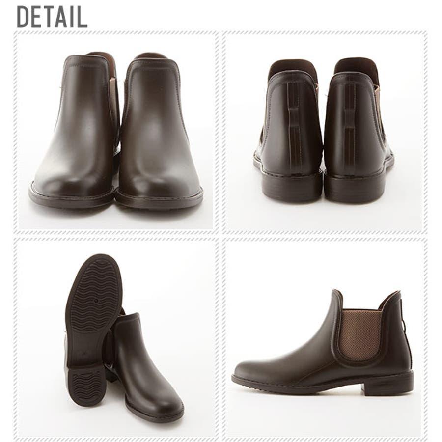 レインブーツ 長靴 ショートブーツ サイドゴア ショート丈 通販 レディース シンプル サイドゴアブーツ インソール付き晴雨兼用ブーツ ショートブーツ レインシューズ ビジネス 軽量 おしゃれ レディース靴 23-0001 23-3041 TP1402 2