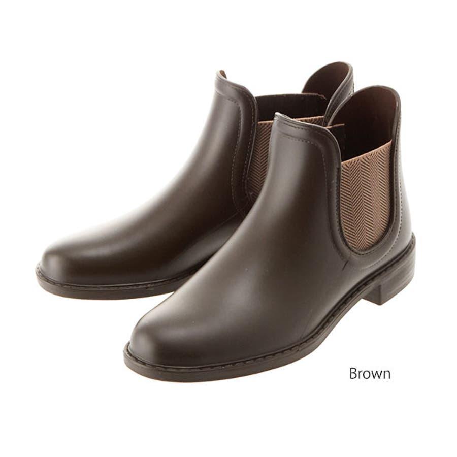レインブーツ 長靴 ショートブーツ サイドゴア ショート丈 通販 レディース シンプル サイドゴアブーツ インソール付き晴雨兼用ブーツ ショートブーツ レインシューズ ビジネス 軽量 おしゃれ レディース靴 23-0001 23-3041 TP1402 5