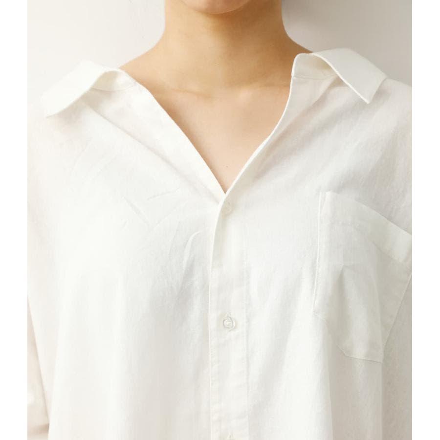 ロールアップリネンシャツ 5
