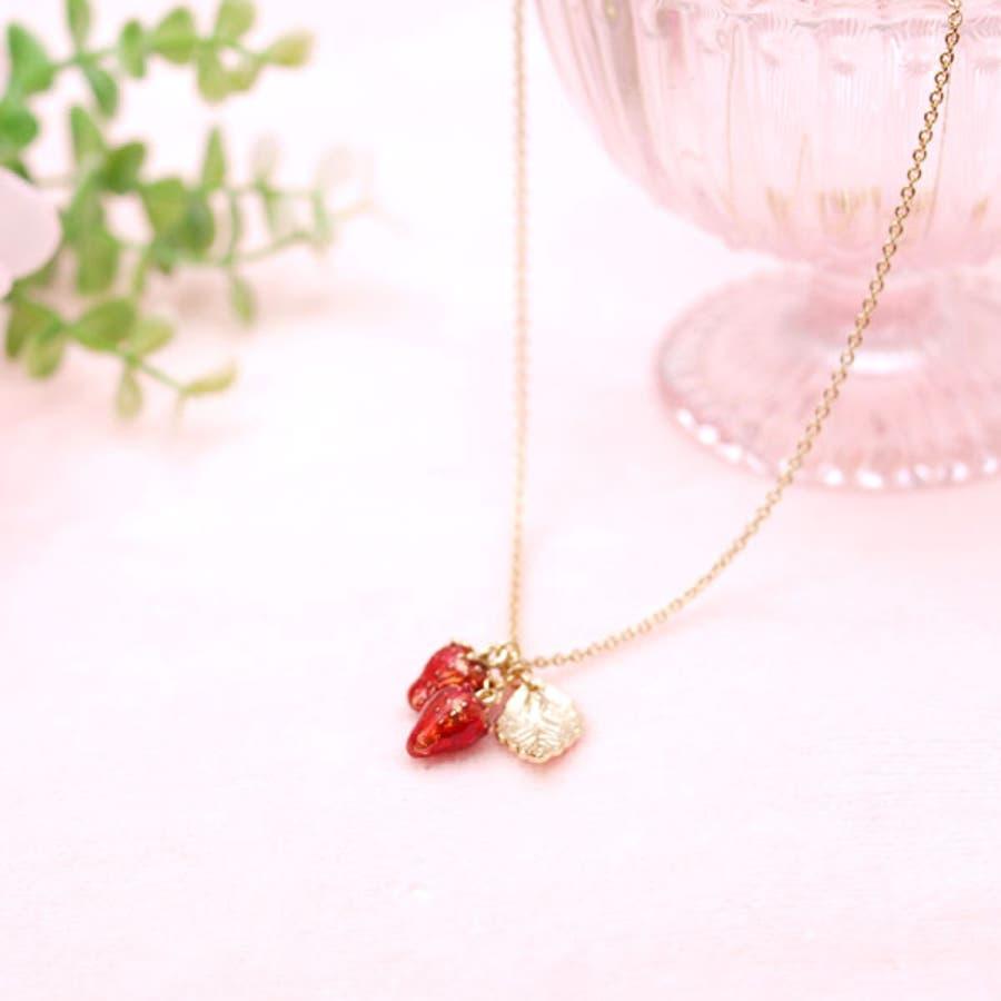 イチゴのネックレス いちごのネックレス 苺のネックレス イチゴ