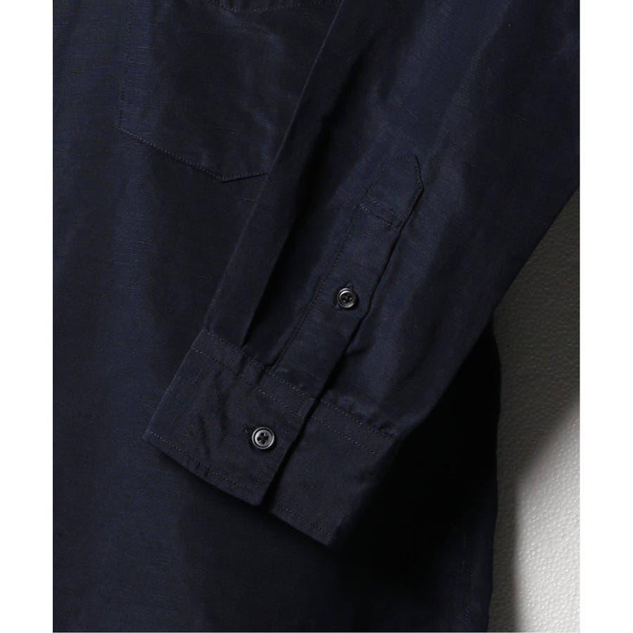 B.C STOCK ベーセーストック BELGIAN LINEN BLEND バンドカラーシャツ 4