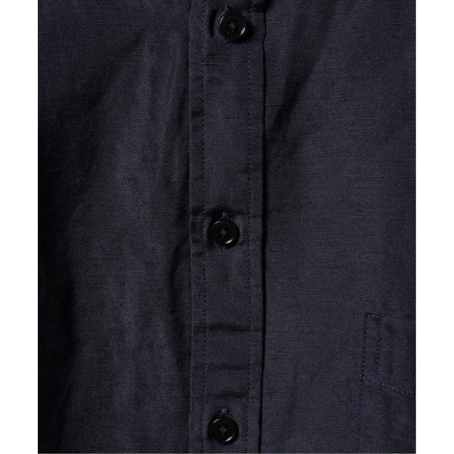 B.C STOCK ベーセーストック BELGIAN LINEN BLEND バンドカラーシャツ 5