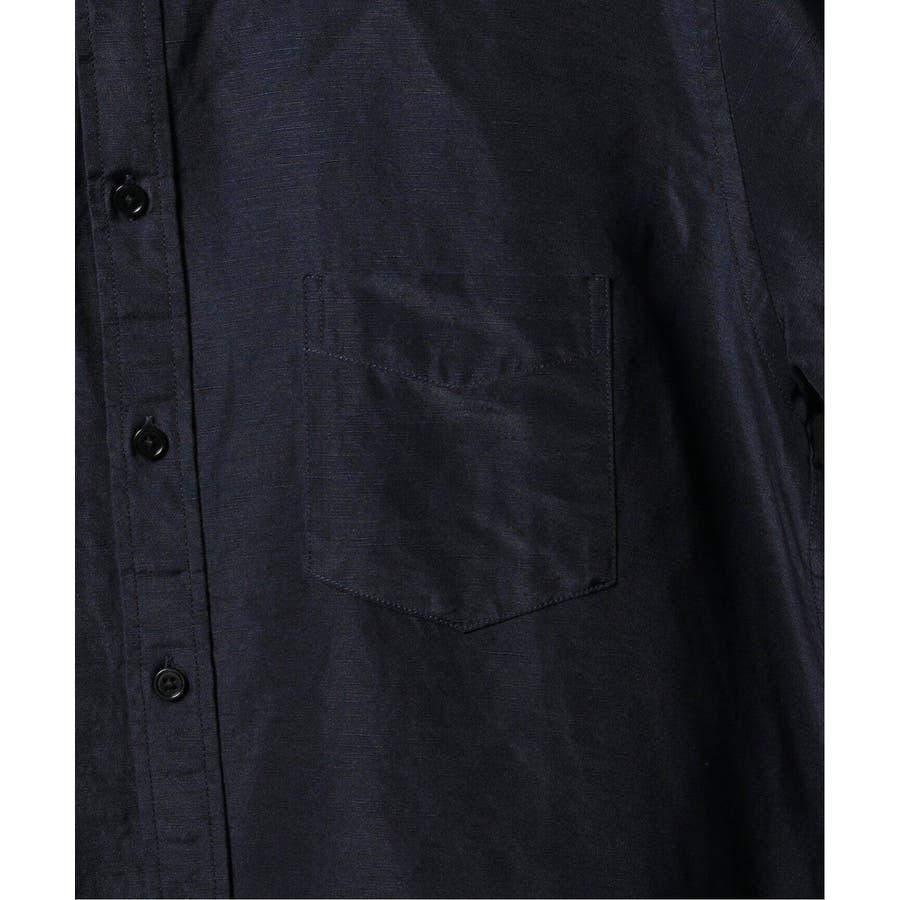 B.C STOCK ベーセーストック BELGIAN LINEN BLEND バンドカラーシャツ 6