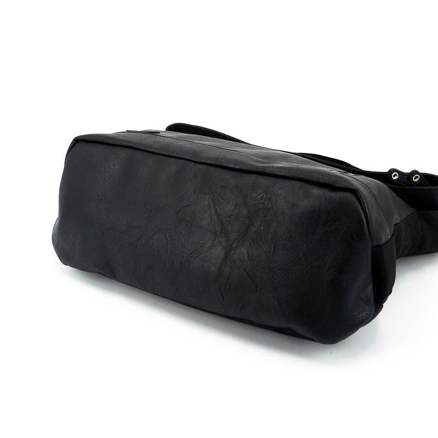 ショルダーバッグ メンズ A4 通学 通勤 旅行 合皮 シンプル 5