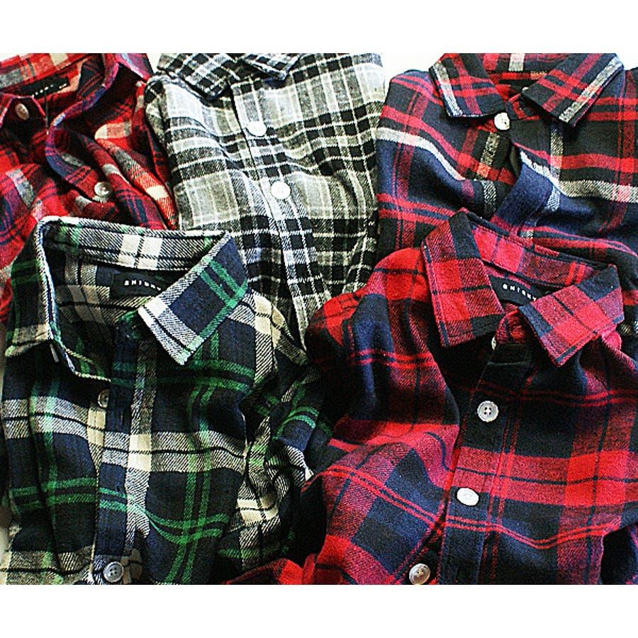 c01e588e75e29 子供服 男の子 シャツ チェックネルシャツ 120 130 140 150 160cm 品番 ...