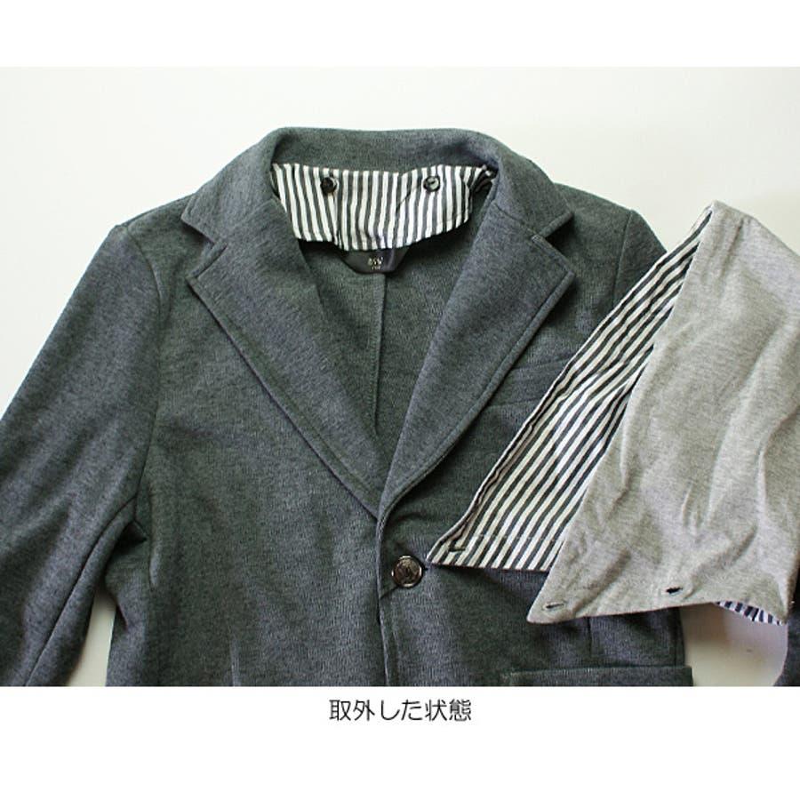 ffc6b72cf8e6a キッズ フォーマル 入学 卒業式 スーツ 男の子 フード付テイラード ...