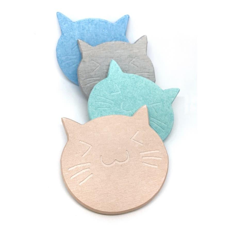 猫の珪藻土コースター コースター ネコ 4色 5