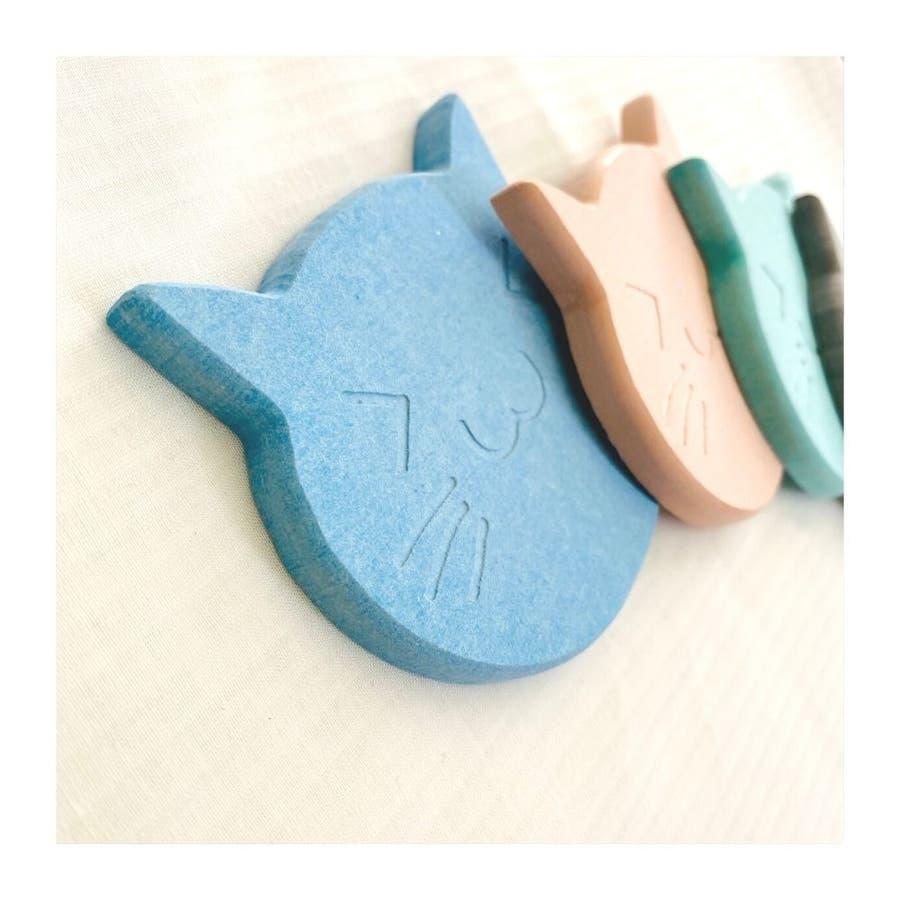 猫の珪藻土コースター コースター ネコ 4色 8