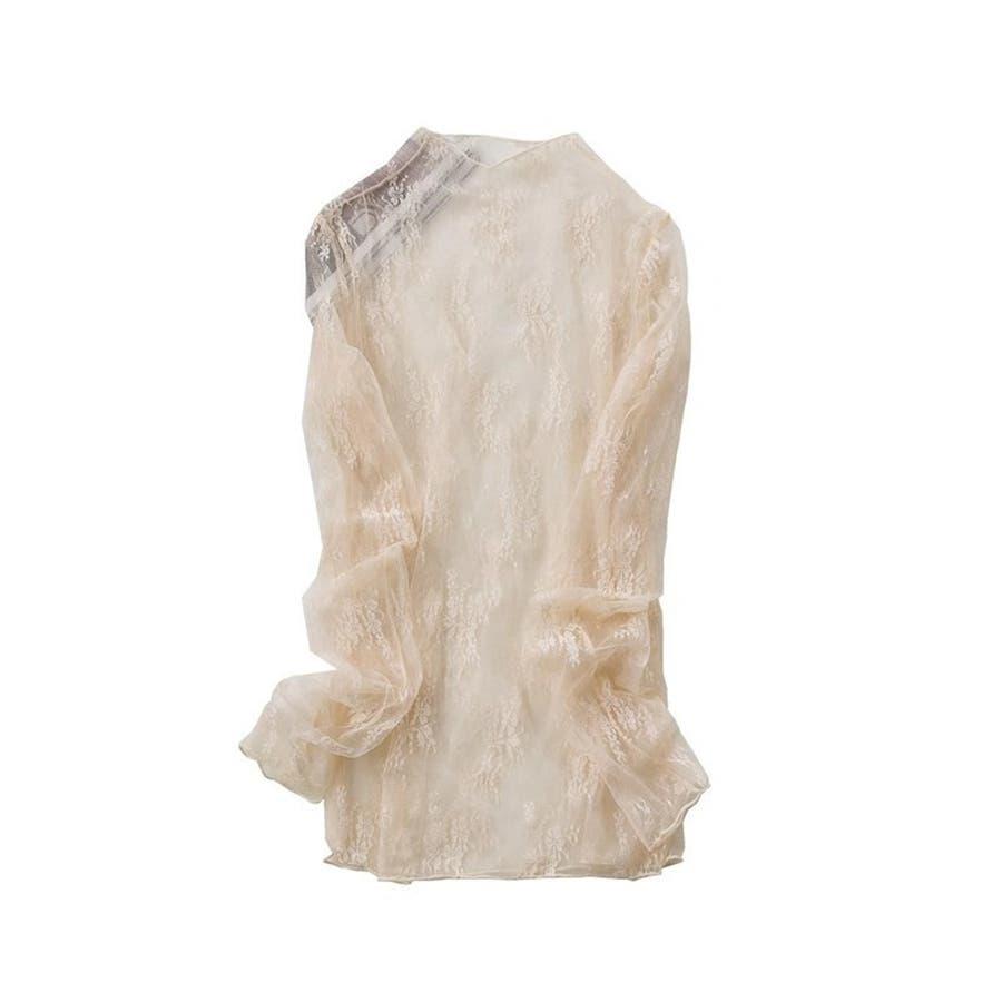 レディースファッション通販トップスフラワーレースブラウスシースルーOL オシャレ 春夏レースブラウス 42