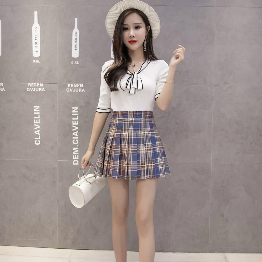 2d1cf8b85ec レディースファッション通販プリーツミニスカート女子 高校生 定番 ...