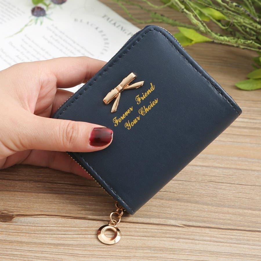 レディースファッション通販ミニ財布シンプル財布クラッチ用レディース二つ折りコンパクト小銭入れコインケースおしゃれ可愛い小さい大容量ゴールドラウンドファスナー春夏 64