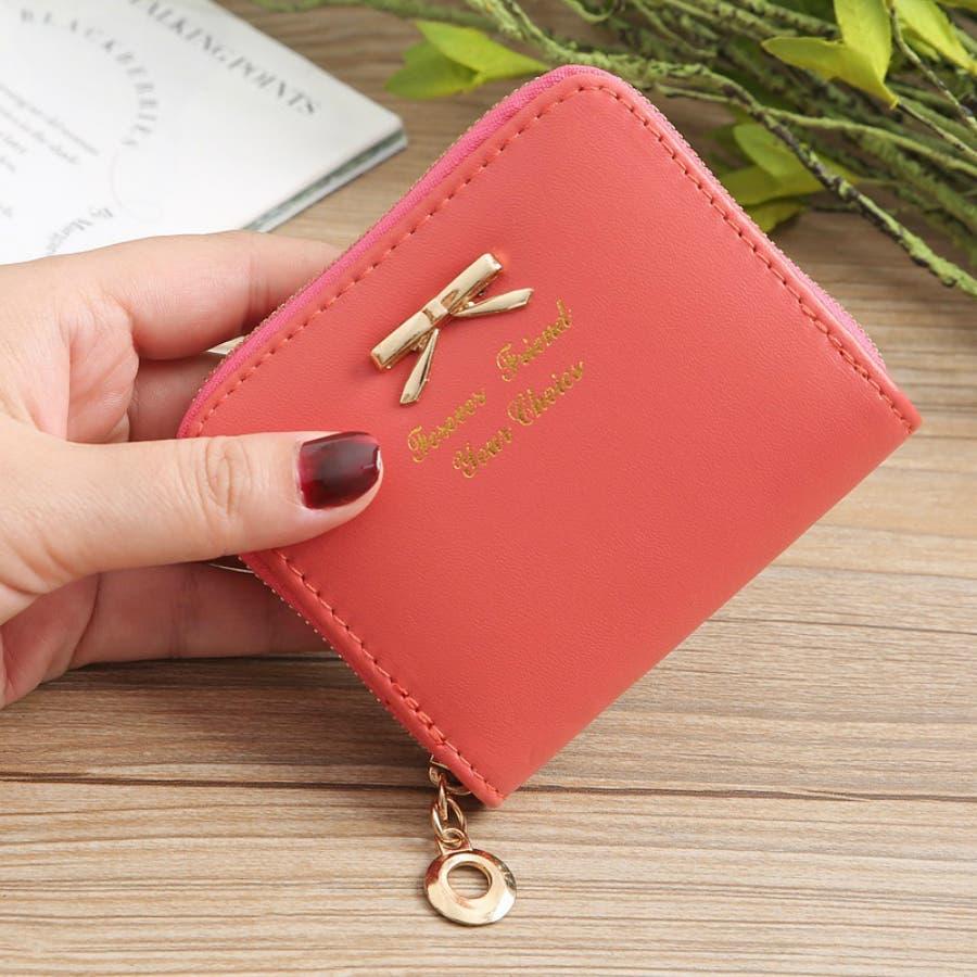 レディースファッション通販ミニ財布シンプル財布クラッチ用レディース二つ折りコンパクト小銭入れコインケースおしゃれ可愛い小さい大容量ゴールドラウンドファスナー春夏 98