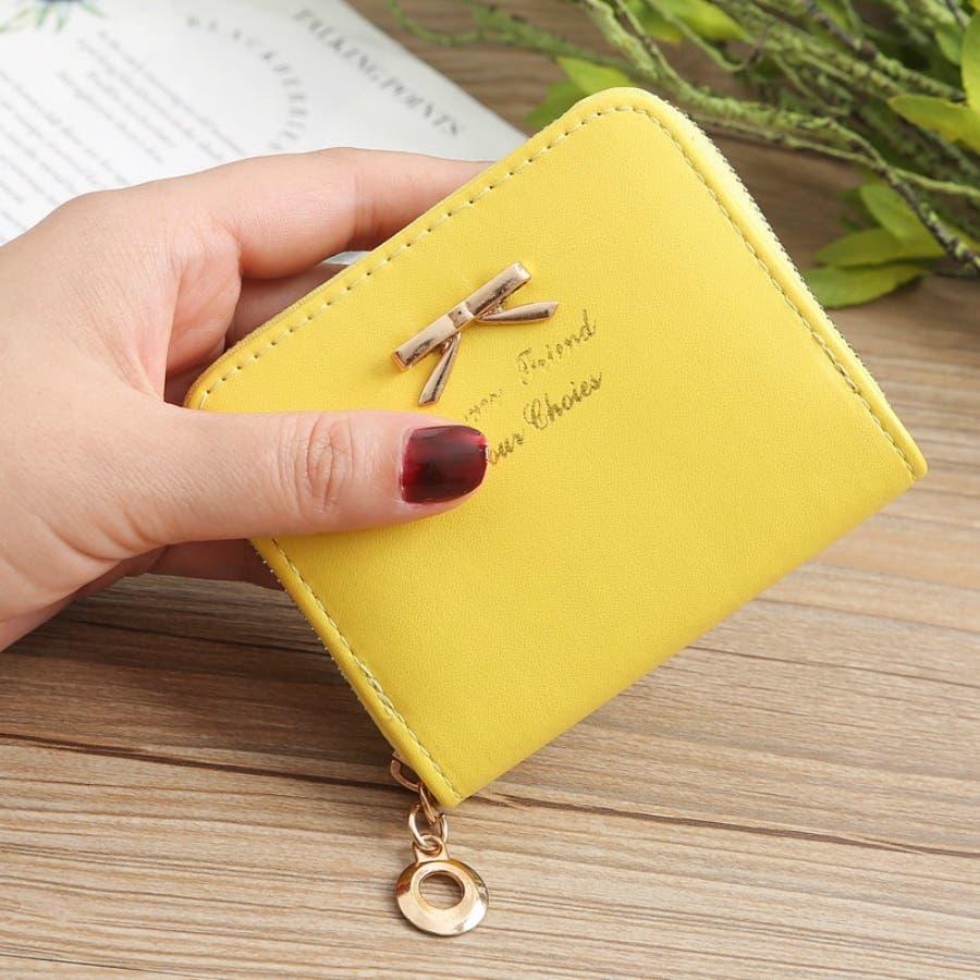 レディースファッション通販ミニ財布シンプル財布クラッチ用レディース二つ折りコンパクト小銭入れコインケースおしゃれ可愛い小さい大容量ゴールドラウンドファスナー春夏 83