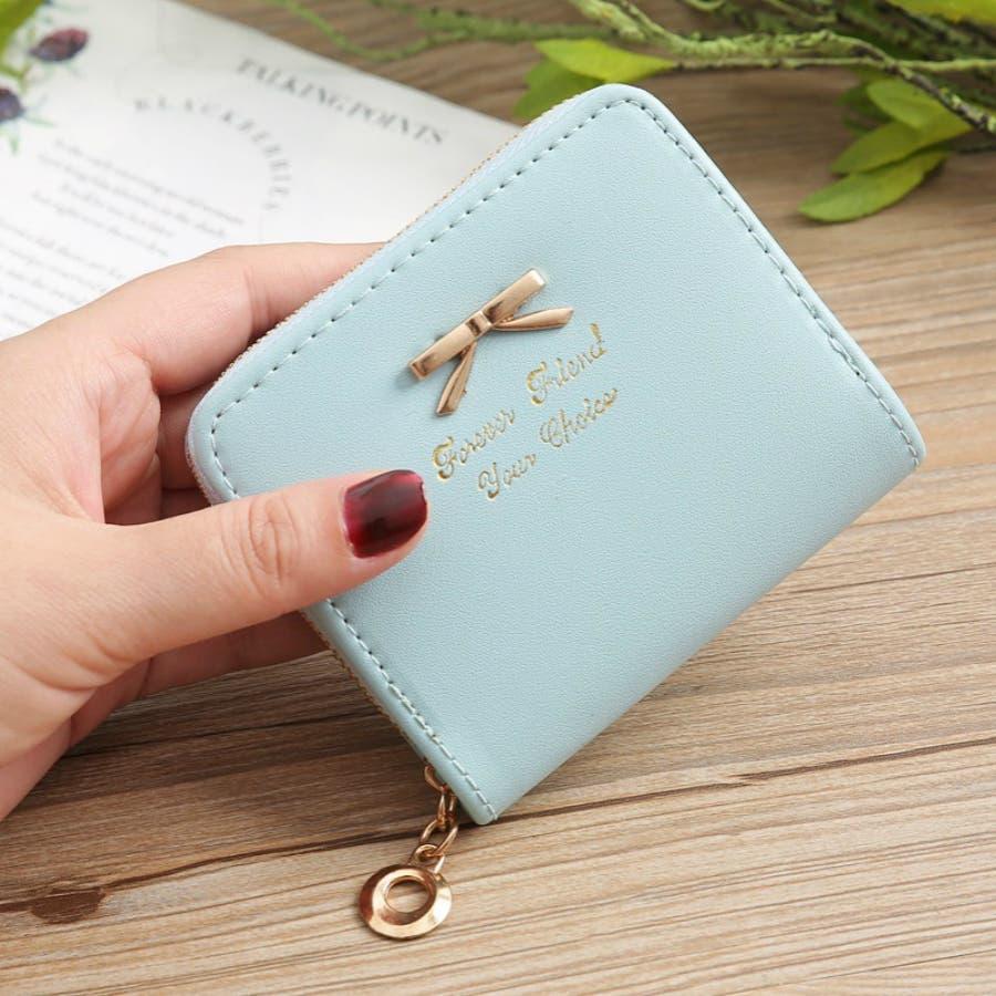 レディースファッション通販ミニ財布シンプル財布クラッチ用レディース二つ折りコンパクト小銭入れコインケースおしゃれ可愛い小さい大容量ゴールドラウンドファスナー春夏 60