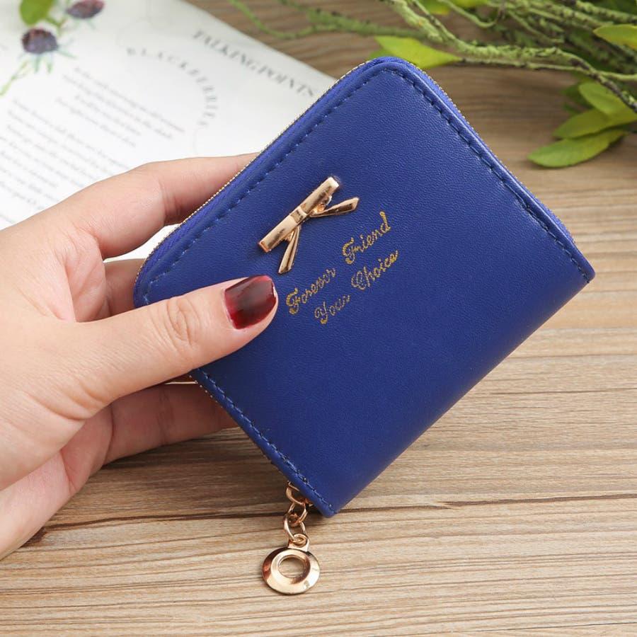 レディースファッション通販ミニ財布シンプル財布クラッチ用レディース二つ折りコンパクト小銭入れコインケースおしゃれ可愛い小さい大容量ゴールドラウンドファスナー春夏 61