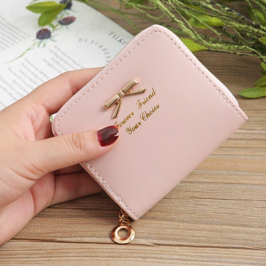 レディースファッション通販ミニ財布シンプル財布クラッチ用レディース二つ折りコンパクト小銭入れコインケースおしゃれ可愛い小さい大容量ゴールドラウンドファスナー春夏 88