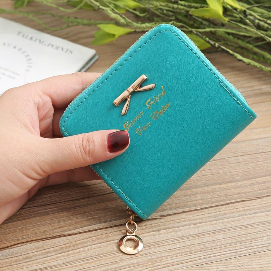 レディースファッション通販ミニ財布シンプル財布クラッチ用レディース二つ折りコンパクト小銭入れコインケースおしゃれ可愛い小さい大容量ゴールドラウンドファスナー春夏 47