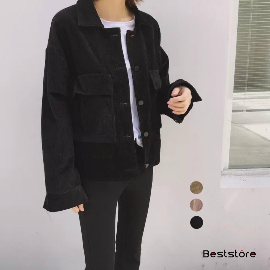 レディースファッション通販韓国風 シャツ長袖 おしゃれ シンプル ジャケット・ブルゾン・コーデュロイ 春秋冬 CPOジャケット コーデュロイジャケット 22