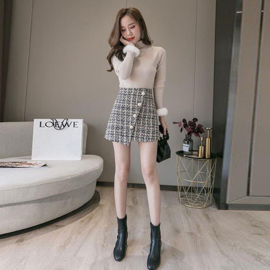 レディースファッション通販ミニスカート 台形 スカート 2