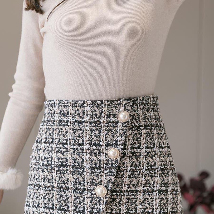 レディースファッション通販ミニスカート 台形 スカート 3