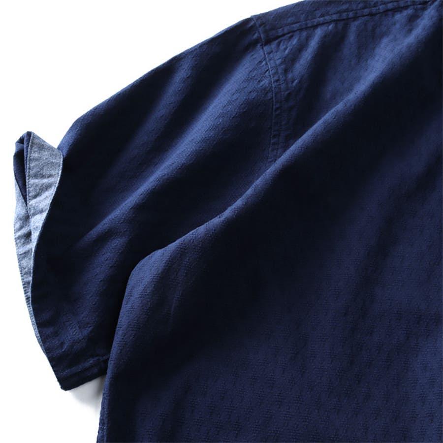 大きいサイズ メンズ DANIEL DODD 半袖 パナマ ブロック & ダイヤ ジャーガード ボタンダウン シャツアンサンブル 936-200231 8
