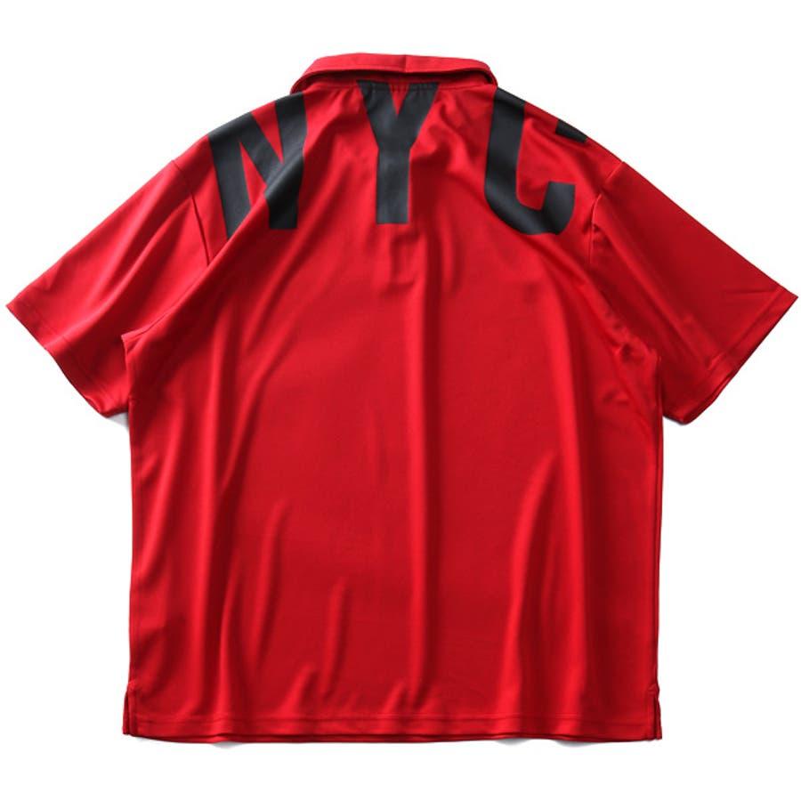 大きいサイズ メンズ EVERLAST 吸水速乾 バックプリント 半袖 ポロシャツ elc02108b 10