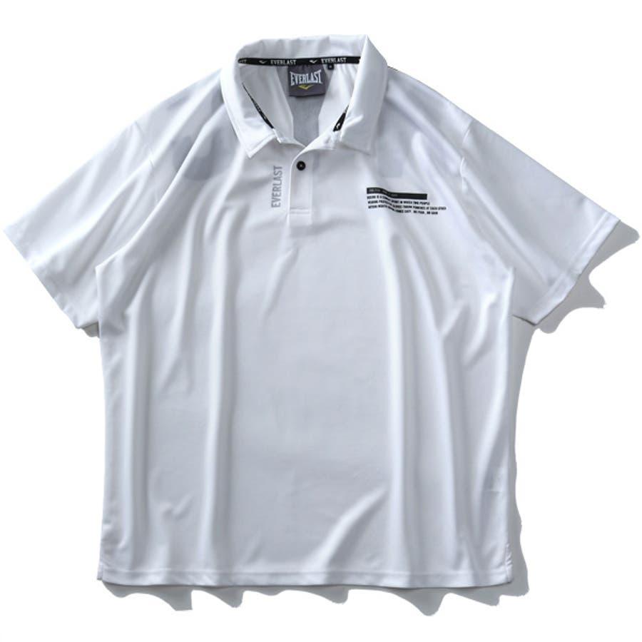 大きいサイズ メンズ EVERLAST 吸水速乾 バックプリント 半袖 ポロシャツ elc02108b 6