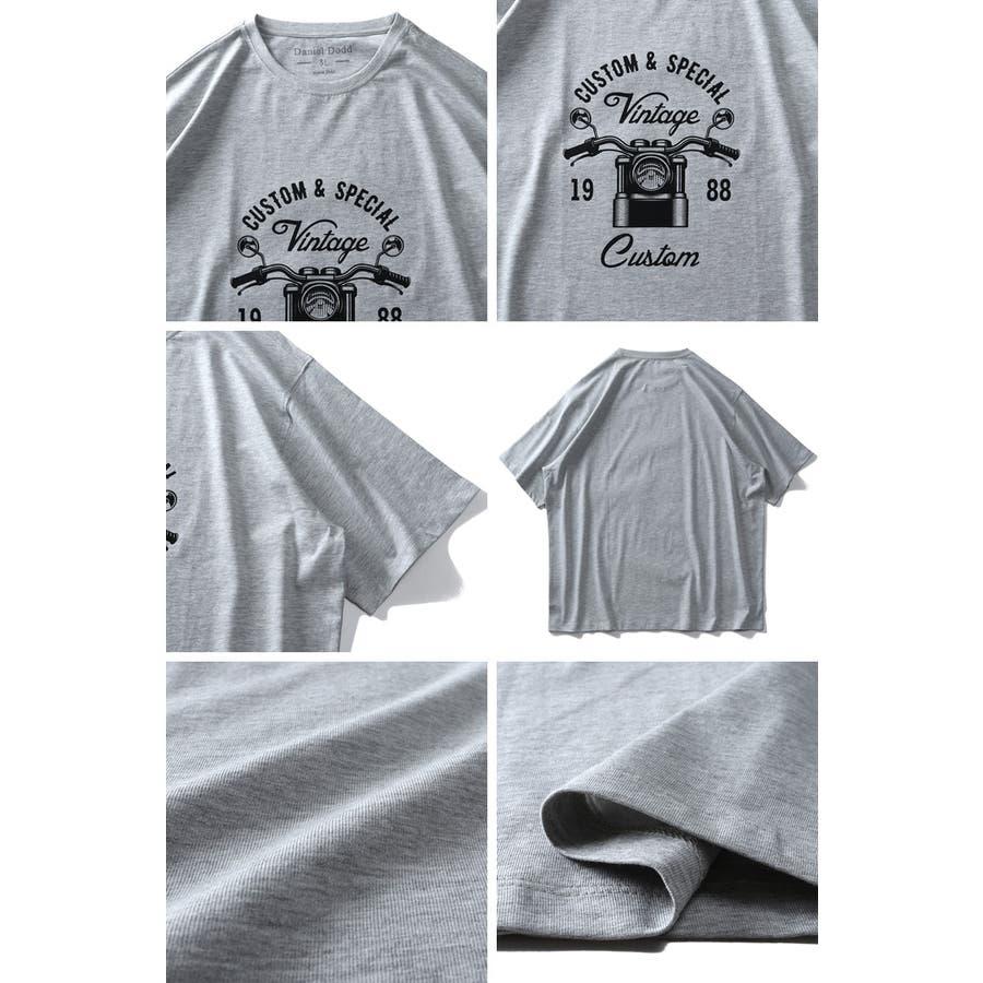 大きいサイズ メンズ DANIEL DODD オーガニック プリント 半袖 Tシャツ Vintage Customazt-200267 3