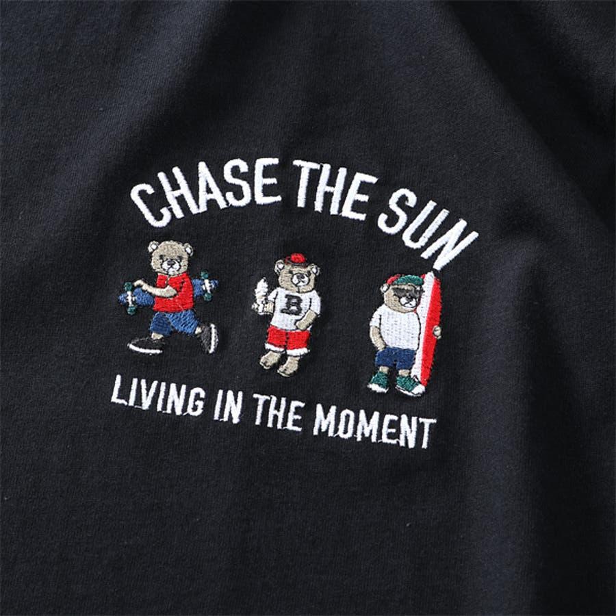 大きいサイズ メンズ QUASH アッシュ くま刺繍 半袖 Tシャツ ap86921g 5