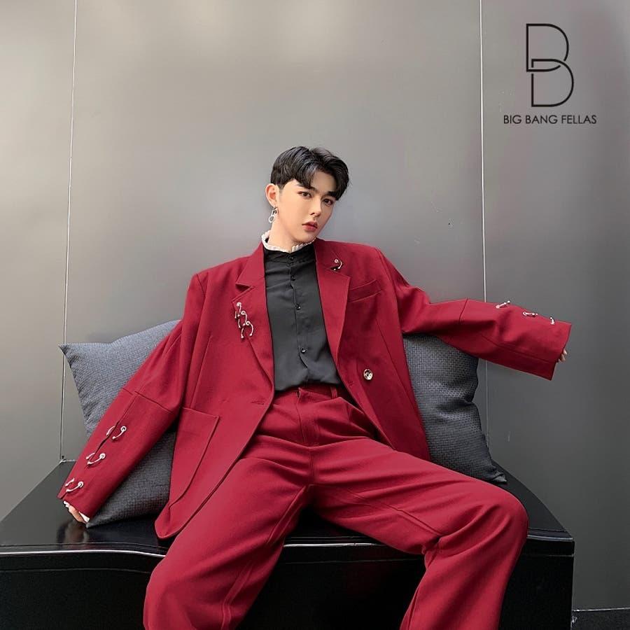 8c77391bf6cf6 2点セット デザインスーツ パーティースーツ ジャケット パンツの2ピース モード系 韓流