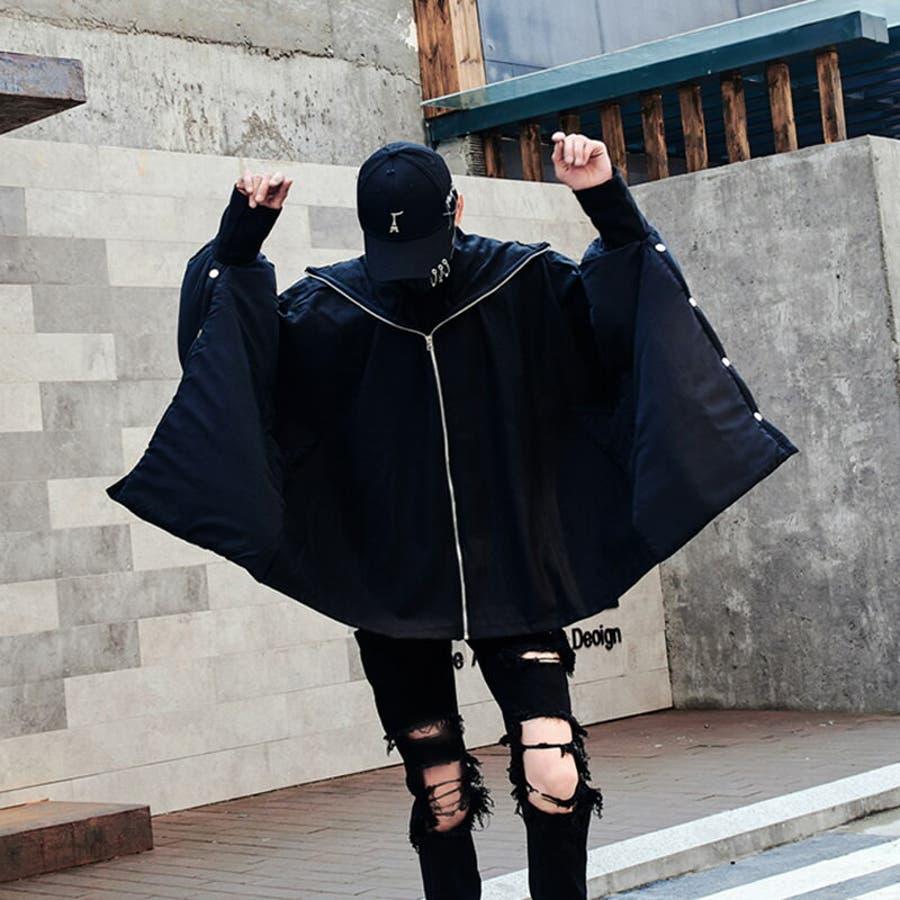 モダン デザインジャケット ブラックコーデ ウインドブレーカー ストリート モードストリート メンズ, メンズファッション韓国ファッション 冬 秋  個性 衣装 ゆ��り オー�ーサイズ韓� 原宿系 韓国ファッション 韓� K,POP, KPOP