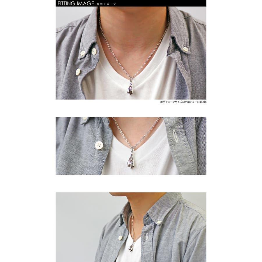スモールティアーライン ベル ペンダント (トップのみ) メンズ ネックレス シルバー アクセサリー 2